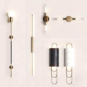 現代壁燈組合3D模型【ID:751234939】