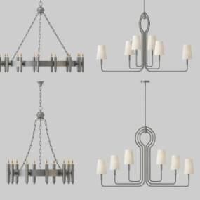 现代简约吊灯组合3D模型【ID:737133813】