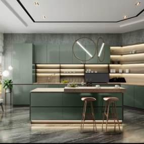 現代輕奢廚房3D模型【ID:550666374】