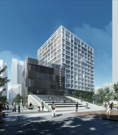 现代政府办公大楼罗湖档案中心3D模型【ID:150052900】