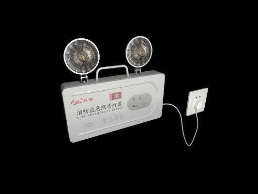 现代科特消防应急照明灯3D模型【ID:831931535】