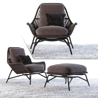 现代椅子Minotti国外3D模型【ID:733550045】
