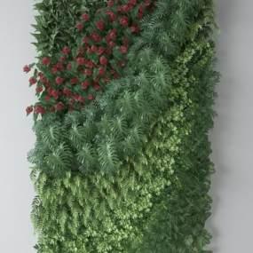 现代植物墙3D模型【ID:247100827】