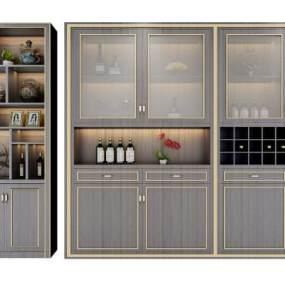 新中式装饰柜酒柜组合3D模型【ID:633081200】