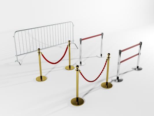 现代礼宾栏围栏3D模型【ID:145768975】