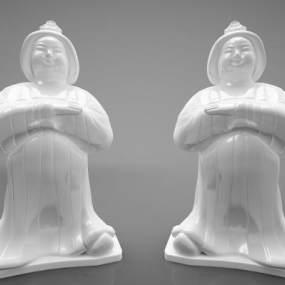 新中式風格雕塑3D模型【ID:346974130】