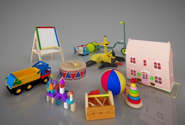 儿童器材3D模型【ID:441762124】