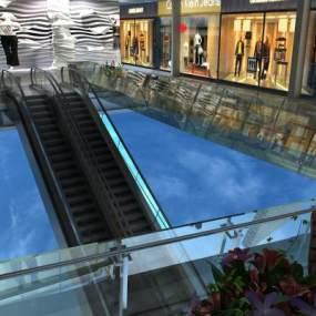 现代扶手电梯3D模型【ID:945715940】