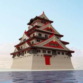 西藏寺庙3D模型【ID:241758109】