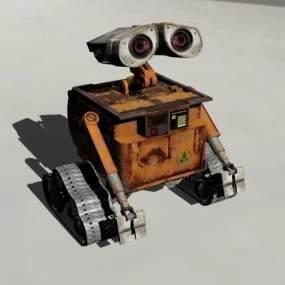 现代机器人瓦力3D模型【ID:832497730】