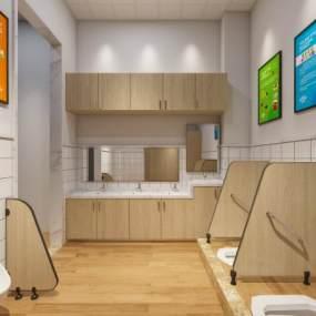 工业风幼儿园卫生间3D模型【ID:950888656】
