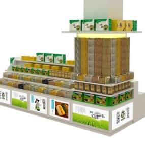 现代食品堆头3D模型【ID:132365133】