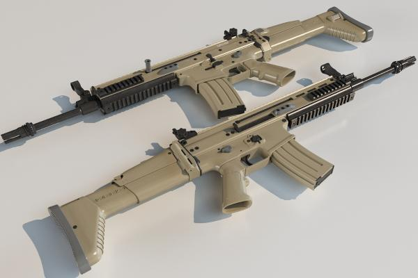 冲锋枪3D模型【ID:440631275】