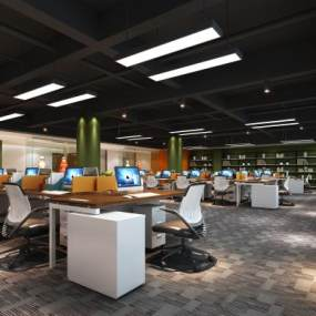 现代办公室3D模型【ID:934670042】