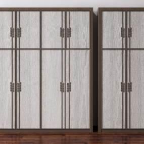 新中实木衣柜3D模型【ID:145542479】