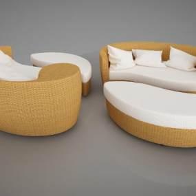 �F代多�x休�e椅子 3D模型【ID:641973455】