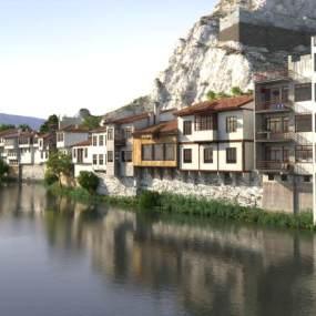 现代住宅园林景观3D模型【ID:134713429】