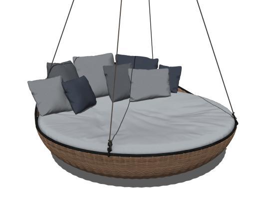 现代吊篮沙发SU模型【ID:453906366】