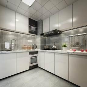 北欧厨房3D模型【ID:535443369】