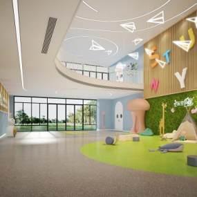 现代幼儿园活动区3D模型【ID:935979605】