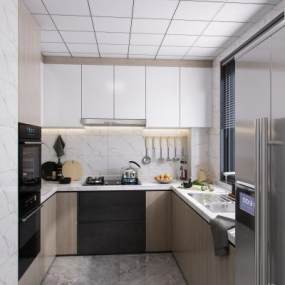 現代風格廚房3D模型【ID:551931303】