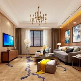现代酒店3D模型【ID:744066385】