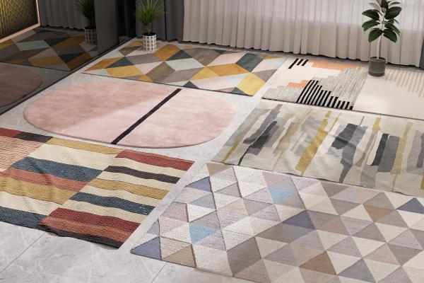 现代地毯3D模型【ID:349035255】