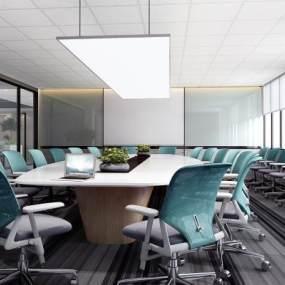 现代会议室3D模型【ID:933091178】