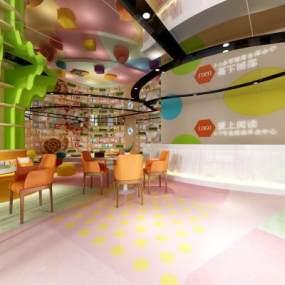 现代儿童图书馆3D模型【ID:932102839】