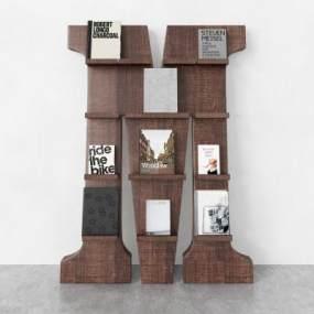 现代书柜3D模型【ID:151162529】