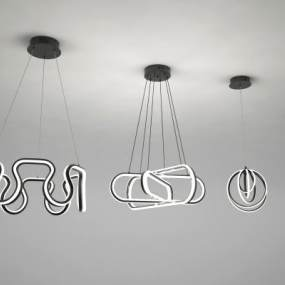 现代吊灯3D模型【ID:751059812】