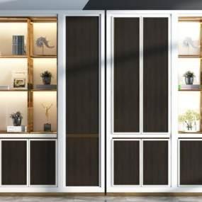 現代裝飾柜3D模型【ID:149017288】