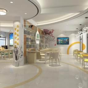现代社区便民服务中心3D模型【ID:953217993】