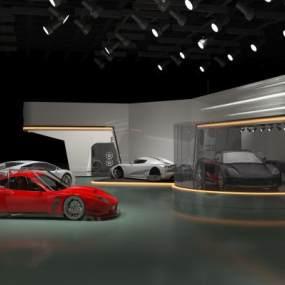 現代汽車展廳3D模型【ID:948563714】