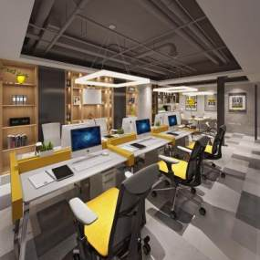 现代办公室3D模型【ID:934670078】