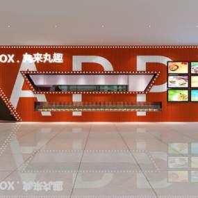 现代快餐店3D模型【ID:643589977】