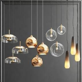 現代吊燈3D模型【ID:749022857】