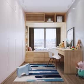 现代儿童房3D模型【ID:545562251】