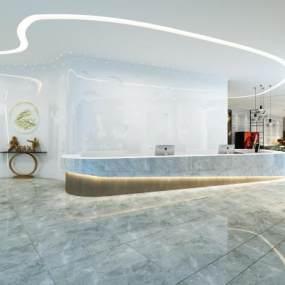 现代酒店大堂3D模型【ID:735677066】
