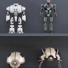 现代机器人组合3D模型【ID:631617353】