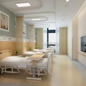 现代医院病房3D模型【ID:944852749】