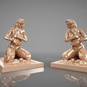 现代雕塑模型3D模型【ID:334501179】