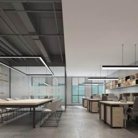 工业风办公室3D模型【ID:948914090】
