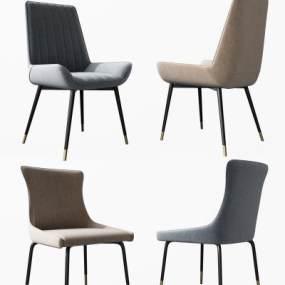 现代轻奢餐椅组合3D模型【ID:752875109】