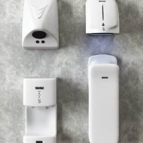 现代公共卫生间干手机烘手机3D模型【ID:635829482】