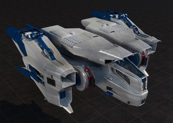 太空飞船3D模型【ID:440629937】
