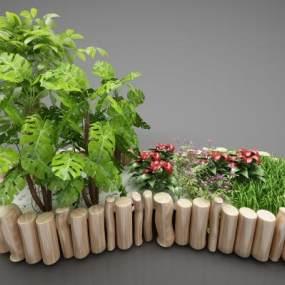 現代風格植物3D模型【ID:246939869】