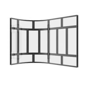 现代圆角窗3D模型【ID:331495243】