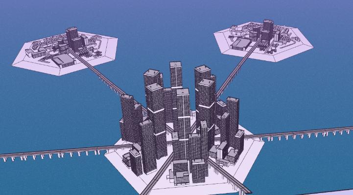 现代滨海建筑SU模型【ID:351682268】