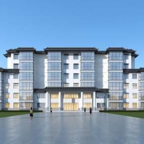 新中式酒店3D模型【ID:147248967】
